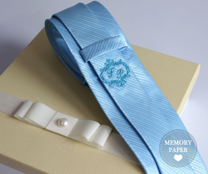 Novidade em gravatas personalizadas para casamento